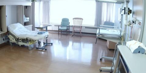 Hospital birthing room