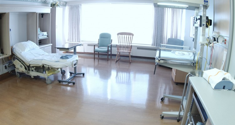 Hospital birthing room