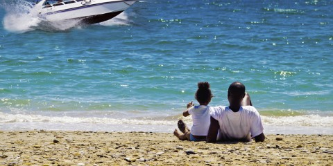 Black family dreams of a fast boat