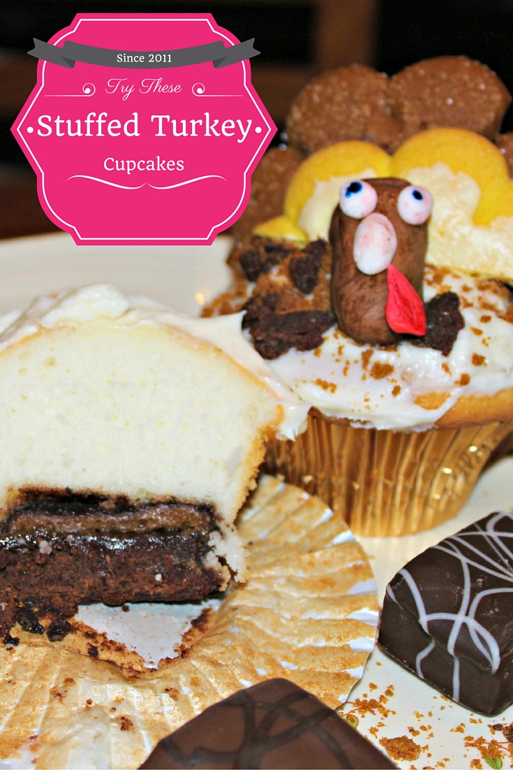 Pinterest Stuffed Turkey Cupcakes